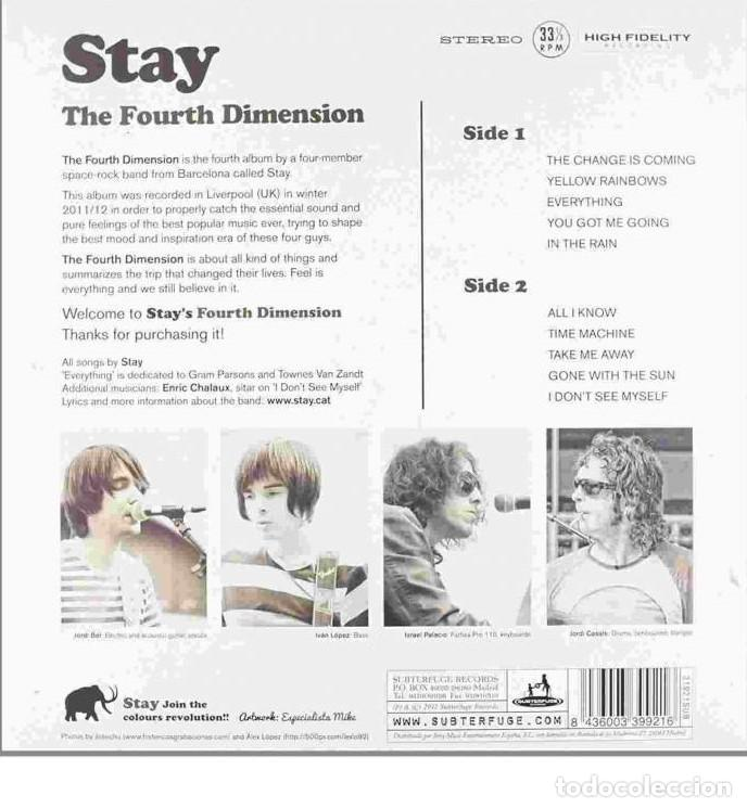 Discos de vinilo: LP THE FOURTH DIMENSION - STAY - Original Spain 2012- indie rock -psychedelic rock. - Foto 2 - 203901375