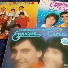 Discos de vinilo: LOTE 3 LPS ENRIQUE Y ANA Y SUPER PEQUES. Lote 203913656