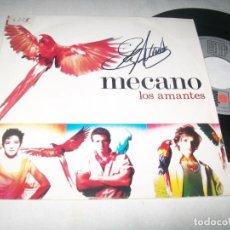 Discos de vinilo: MECANO - LOS AMANTES + FABULA ..SINGLE DE 1988 - EDICION PROMOCIONAL - FIRMADO POR ANA TORROJA .. Lote 203914011