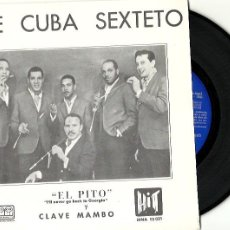 Discos de vinilo: JOE CUBA SEXTETO. EL PITO (I'LL NEVER GO BACK TO GEORGIA) (VINILO SINGLE 1966). Lote 203922683