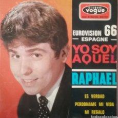 Discos de vinilo: RAPHAEL. EP EUROVISIÓN. SELLO DISQUES VOGUE. EDITADO EN FRANCIA. Lote 203923251
