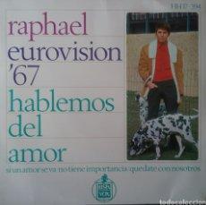 Discos de vinilo: RAPHAEL. EP EUROVISIÓN. SELLO HISPAVOX. EDITADO EN ESPAÑA. AÑO 1967. Lote 203923692