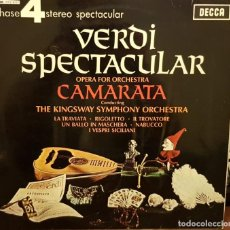 Disques de vinyle: PHASENY ORCHESTRA 4 STEREO VERDI ESPECTACULAR OPERA FOR OR. CAMARATA THE KINGSWAY SYMPHONY ORCHESTRA. Lote 203923931