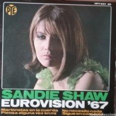 Discos de vinilo: SANDIE SHAW. EP EUROVISIÓN. SELLO PYE RÉCORDS. EDITADO EN ESPAÑA. AÑO 1967. Lote 203924051
