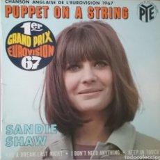 Discos de vinilo: SANDIE SHAW. EP EUROVISIÓN. SELLO PYE RÉCORDS. EDITADO EN FRANCIA. Lote 203924443
