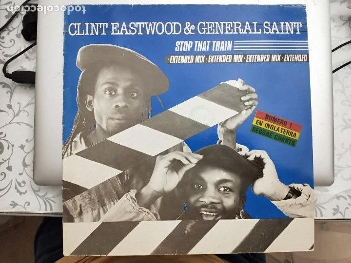 """CLINT EASTWOOD AND GENERAL SAINT - STOP THAT TRAIN (12"""", MAXI)1983 TWINS 1983. BUEN ESTADO (Música - Discos de Vinilo - Maxi Singles - Reggae - Ska)"""