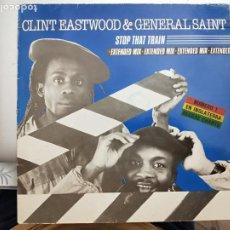 "Discos de vinilo: CLINT EASTWOOD AND GENERAL SAINT - STOP THAT TRAIN (12"", MAXI)1983 TWINS 1983. BUEN ESTADO. Lote 203931190"