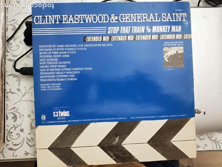 """Discos de vinilo: Clint Eastwood And General Saint - Stop That Train (12"""", Maxi)1983 Twins 1983. BUEN ESTADO - Foto 2 - 203931190"""