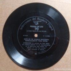 Discos de vinilo: MUSICA, DISCO SINGLE DE PLASTICO FLEXIBLE - PROPAGANDA SELECCIONES READER´S DIGEST. Lote 203931530