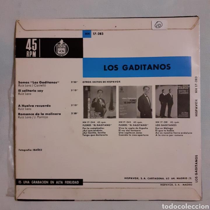 Discos de vinilo: Los Gaditanos. Ritmo y flamenco. Hispavox HH 17-283. 1983. Funda VG++. Disco VG++ - Foto 2 - 203940263