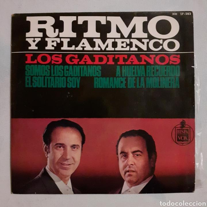 LOS GADITANOS. RITMO Y FLAMENCO. HISPAVOX HH 17-283. 1983. FUNDA VG++. DISCO VG++ (Música - Discos de Vinilo - EPs - Flamenco, Canción española y Cuplé)