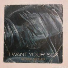 Discos de vinilo: GEORGE MICHAEL. I WANT YOUR SEX. EPC 650783 7. ESPAÑA 1987. FUNDA VG+. DISCO VG+. Lote 203941226