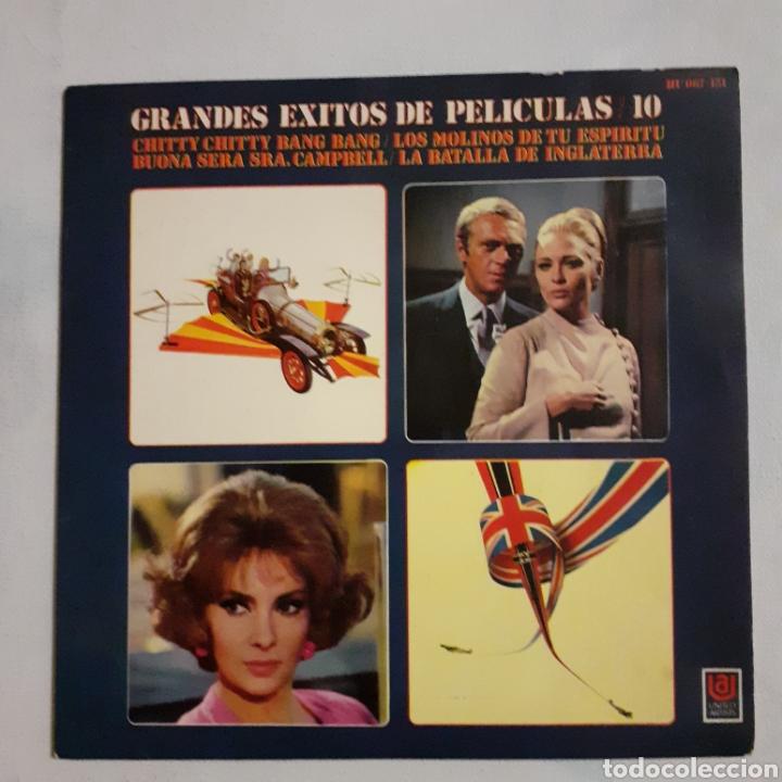 GRANDES ÉXITOS DE PELÍCULAS 10. UNITED ARTISTS HU 067-151.1969. FUNDA VG +. DISCO VG+ (Música - Discos de Vinilo - EPs - Bandas Sonoras y Actores)