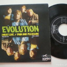 Discos de vinilo: EVOLUTION - I MUST LIVE +1 - SG DIMENSION 1972 // MOD PSYCH SOUL FUNKY PROG DANCER THE VAMPIRES. Lote 203944752
