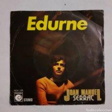 Discos de vinilo: JOAN MANUEL SERRAT. EDURNE. NOVOLA NOX 230. 1974. FUNDA VG+. DISCO VG+.. Lote 203952617