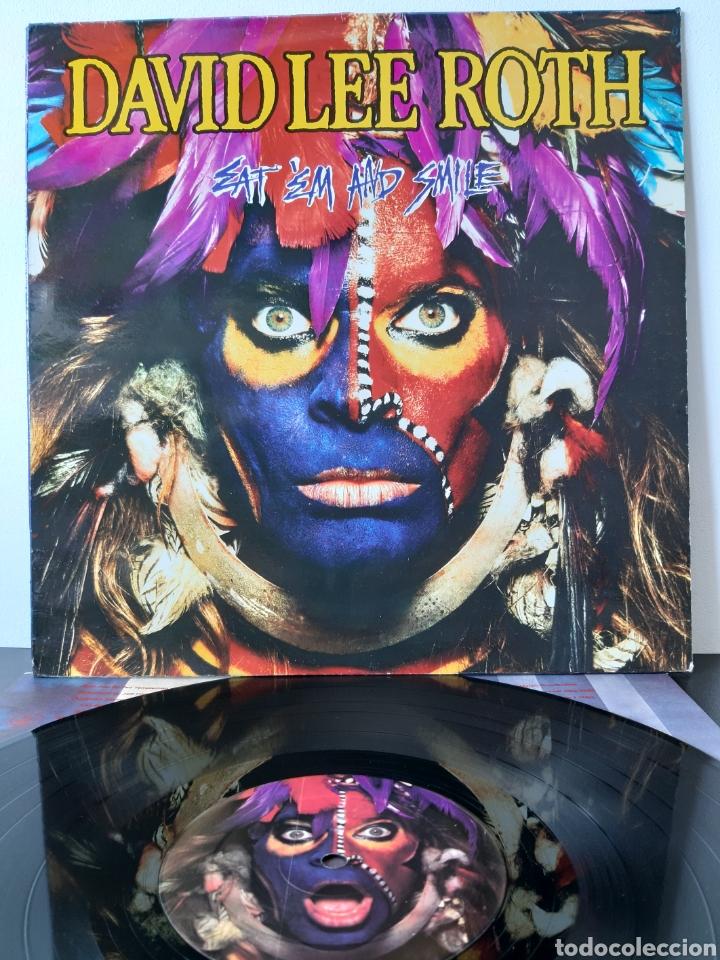 DAVID LEE ROTH. EAT 'EM AND SMILE. PROMOCIONAL . WB RECORDS. 1986. SPAIN. (Música - Discos - LP Vinilo - Pop - Rock - New Wave Extranjero de los 80)