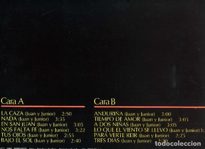 Discos de vinilo: JUAN Y JUNIOR - GRANDES EXITOS - Foto 2 - 203980678