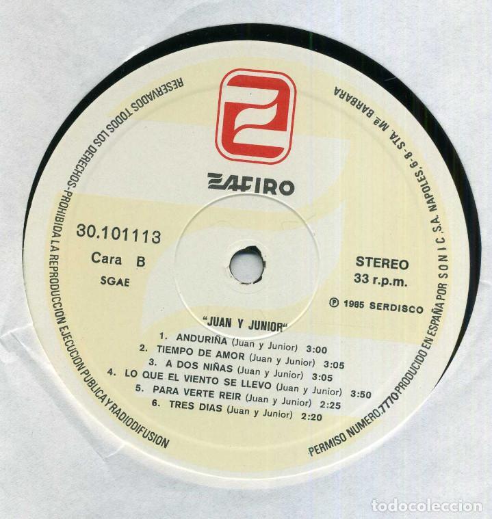 Discos de vinilo: JUAN Y JUNIOR - GRANDES EXITOS - Foto 3 - 203980678