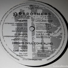 Disques de vinyle: MAXI SINGLE- 2 BROTHERS ON THE 4TH FLOOR - DREAMS (WILL COME ALIVE)- REMEZCLA ESPECIAL- TWENTY 4 SEV. Lote 203983272