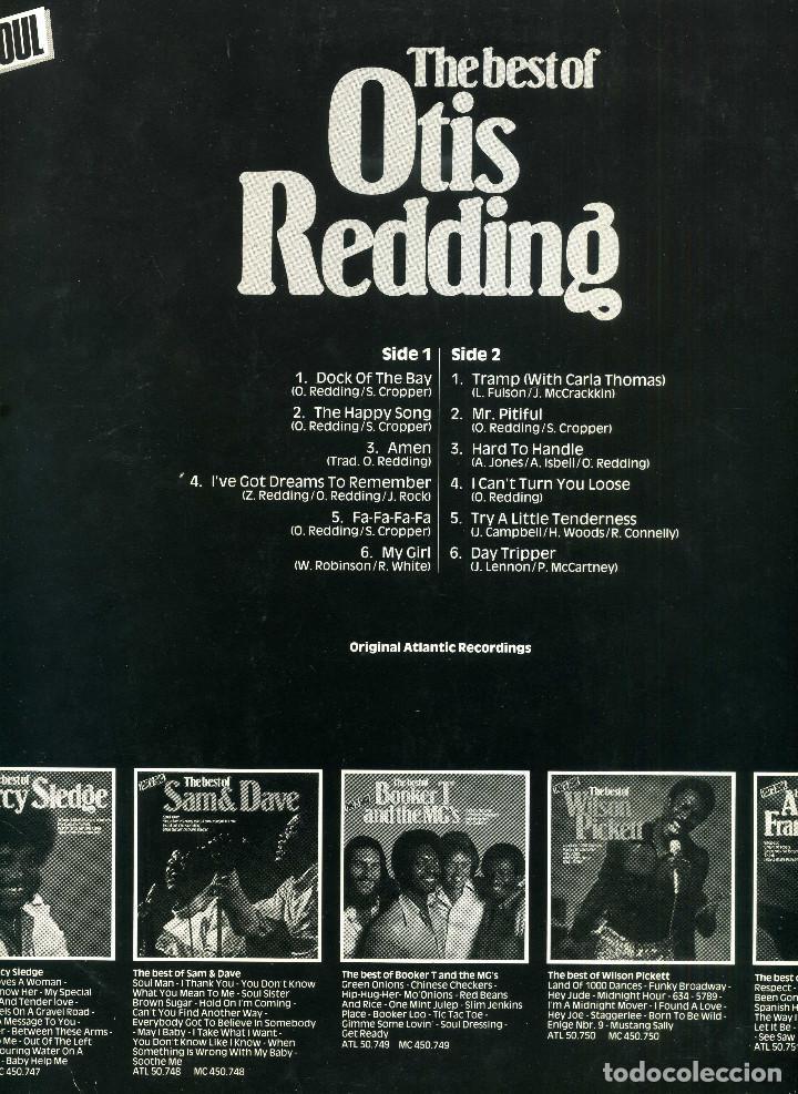 Discos de vinilo: OTIS REDDING - GRANDES EXITOS - Foto 2 - 203985662