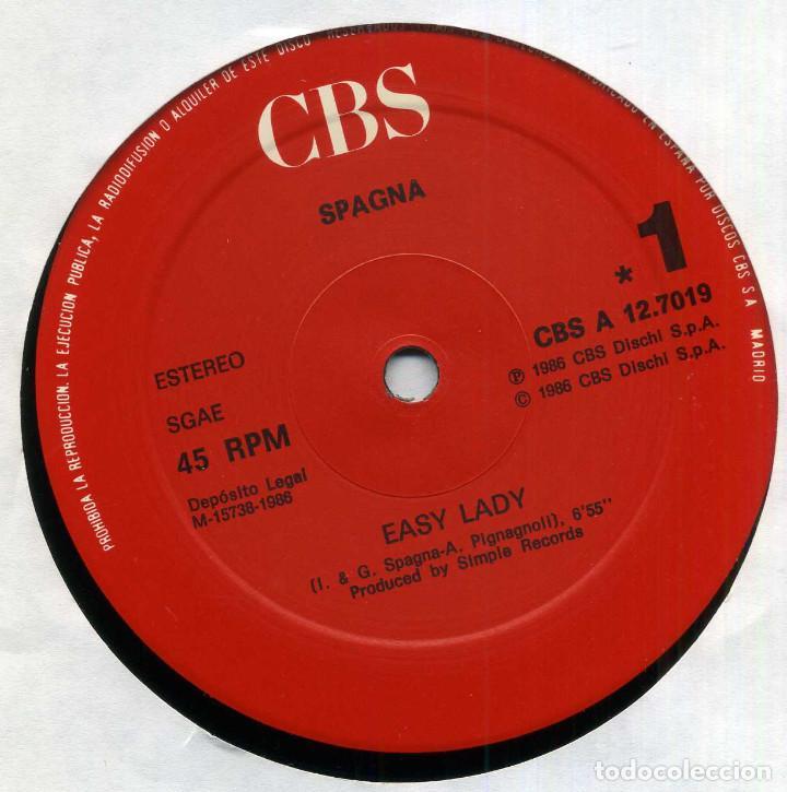 Discos de vinilo: SPAGNA - EASY LADY - Foto 3 - 203988361