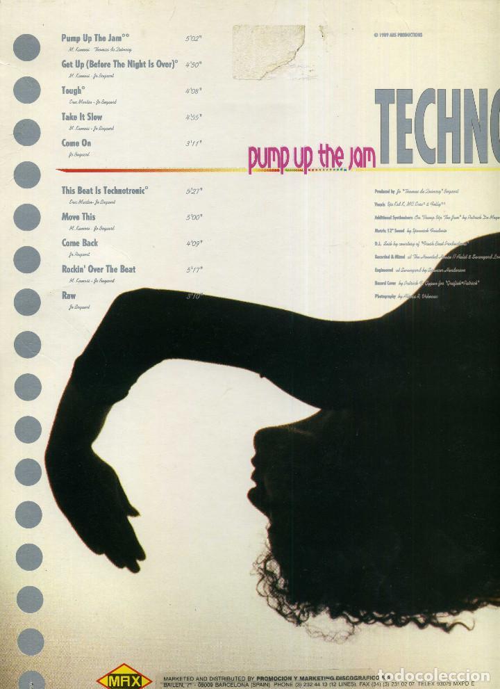 Discos de vinilo: TECHOTRONIC - PUMP UP THE JAM - Foto 2 - 203988858