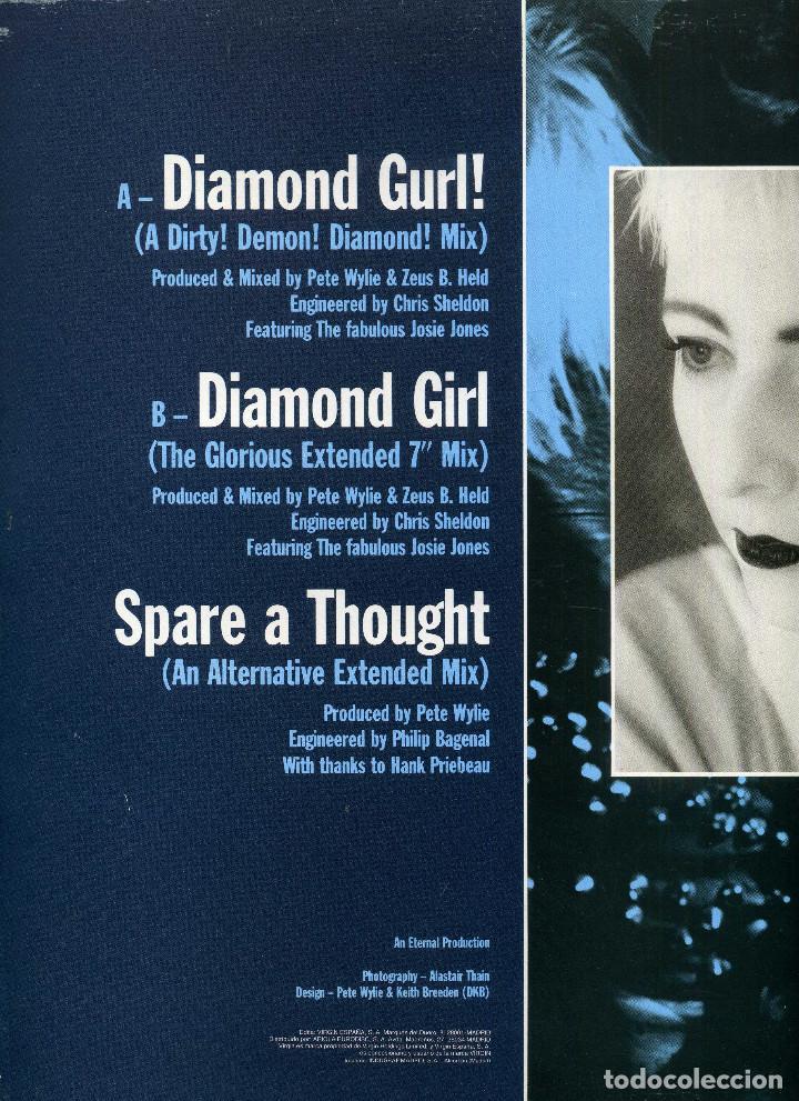 Discos de vinilo: PETE WYLIE - DIAMOND GIRL - Foto 2 - 203989947