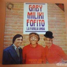 Discos de vinilo: LP, GABY, MILIKI Y FOFITO, LA FAMILIA UNIDA , LOS PAYASOS DE LA TELE, VER FOTOS. Lote 203991255