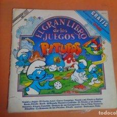 Discos de vinilo: LP, EL GRAN LIBRO DE LOS JUEGOS PITUFOS, CON EL LP DE LOS PITUFOS, VER FOTOS. Lote 203991566