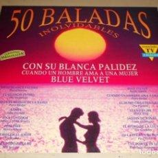 Discos de vinilo: V861 - 50 BALADAS INOLVIDABLES. RECOPILATORIO. TRIPLE LP VINILO. Lote 203996842