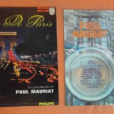 Dischi in vinile: 2 LP,S PAUL MAURIAT - PRESTIGE DE PARIS - CENT MILLE CHANSONS , VER FOTOS. Lote 204014951