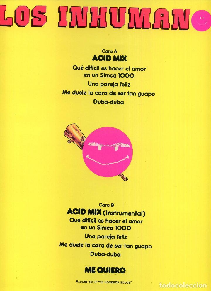 Discos de vinilo: LOS INHUMANOS - ACID MIX - Foto 2 - 204022968