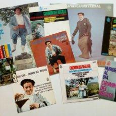 Discos de vinilo: MEGALOTE - CHOMIN DEL REGATO : 7 SINGLES + 2 LP - HUMORISTA VASCO - 1962 1976. Lote 204024257