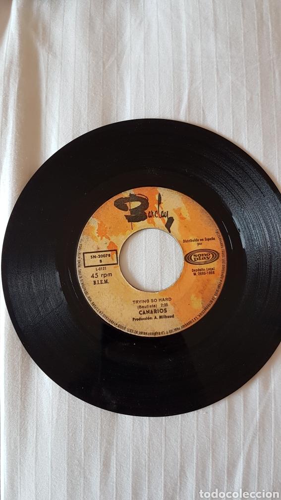 DISCO LOS CANARIOS 45 RPM (Música - Discos de Vinilo - EPs - Grupos Españoles de los 70 y 80)