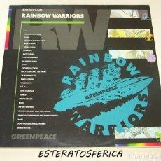 Discos de vinilo: RAINBOW WARRIORS - 2XLP RCA 1989 GATEFOLD - U2 - LOU REED - INXS - REM - SADE .... Lote 204061782