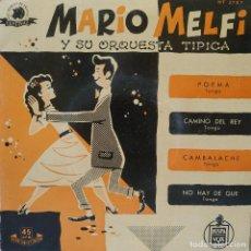 Discos de vinilo: MARIO MELFI - POEMA / CAMINO DEL REY / CAMBALACHE / NO HAY DE QUE - EP HISPAVOX (EN ESTADO NUEVO). Lote 204071562