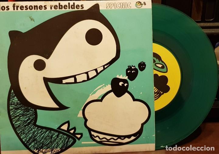 LOS FRESONES REBELDES SPICNIC EP 2ª EDICION VINILO VERDE AL AMANECER (Música - Discos de Vinilo - EPs - Grupos Españoles de los 90 a la actualidad)