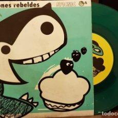 Discos de vinilo: LOS FRESONES REBELDES SPICNIC EP 2ª EDICION VINILO VERDE AL AMANECER. Lote 221073507