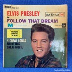 Discos de vinilo: SINGLE - ELVIS PRESLEY - IN FOLLOW THAT DREAM - RCA VICTOR - MONO RCX 211 - LONDON - AÑO 1962. Lote 204078070