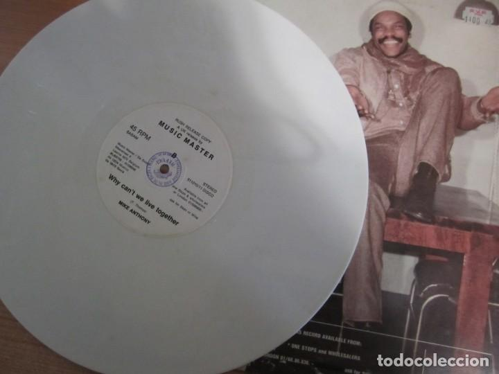 Discos de vinilo: disco vinilo mike anthony why cantt we live together color blanco - Foto 4 - 204080113