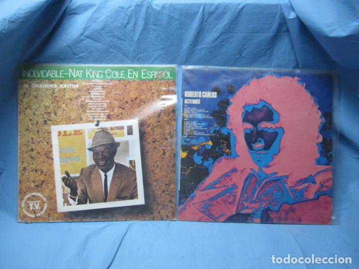 LP DE NAT KING COLE EN ESPAÑOL Y ROBERTO CARLOS (Música - Discos - LP Vinilo - Disco y Dance)