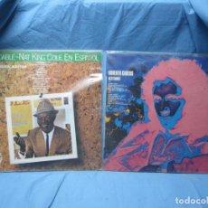Discos de vinilo: LP DE NAT KING COLE EN ESPAÑOL Y ROBERTO CARLOS. Lote 204086562