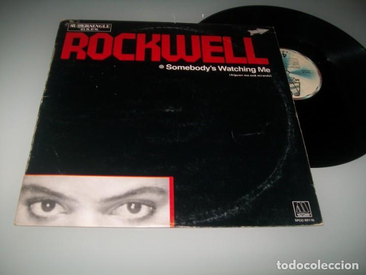 ROCKWELL - SOMEBODY´S WATCHING ME (CON COROS DE MICHAEL JACKSON) .. MAXISINGLE ESPAÑOL - DE 1983 (Música - Discos de Vinilo - Maxi Singles - Funk, Soul y Black Music)
