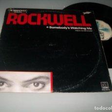 Discos de vinilo: ROCKWELL - SOMEBODY´S WATCHING ME (CON COROS DE MICHAEL JACKSON) .. MAXISINGLE ESPAÑOL - DE 1983. Lote 204095036