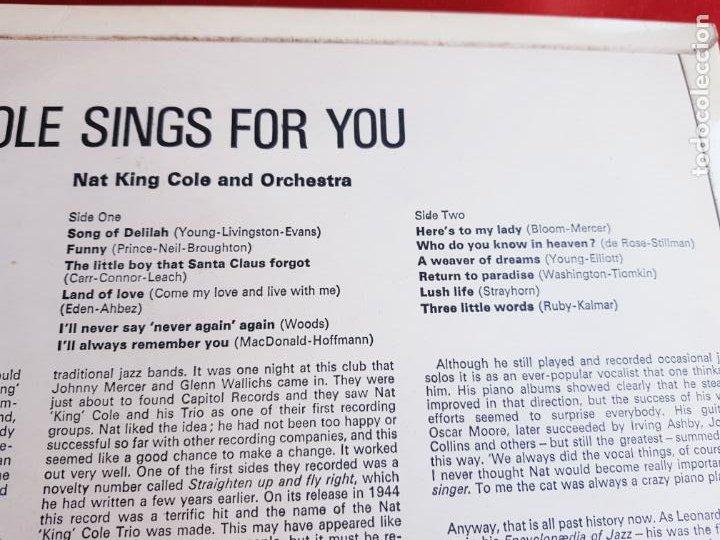 Discos de vinilo: LP-NAT KING COLE-SINGS FOR YOU-12 TEMAS-INGLÉS-EXCELENTE ESTADO-ANTIGUO-VER FOTOS. - Foto 6 - 204097333