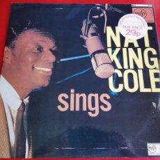 Discos de vinilo: LP-NAT KING COLE-SINGS FOR YOU-12 TEMAS-INGLÉS-EXCELENTE ESTADO-ANTIGUO-VER FOTOS.. Lote 204097333
