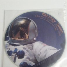 Discos de vinilo: MATTHEW SWEET INTO YOUR DRUG + 4 ( 1997 ZOO USA ) PICTURE DISC BLUE SKY FROM MARS HOLLOW PLAYED OUT. Lote 204098731