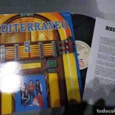 Discos de vinil: MEDITERRANEO - 5 - LP. Lote 204103426