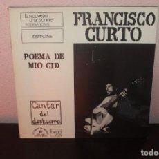 Discos de vinilo: DISCO VINILO LPS FRANCISCO CURTO POEMA DE MIO CID. Lote 204104590