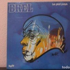 Discos de vinilo: DISCO VINILO LPS BREL LE PLAT PAYS 1. Lote 204105670